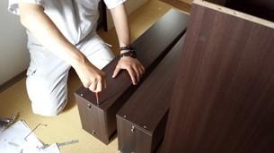 家具の組み立て(タンス)