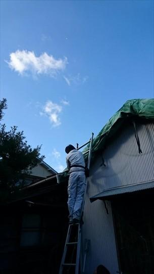 屋根シート補修