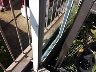 温室のガラス交換