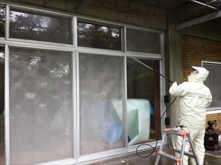 汚れ苔の高圧洗浄