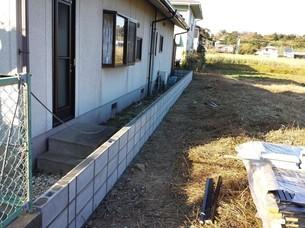 外溝フェンス設置工事④