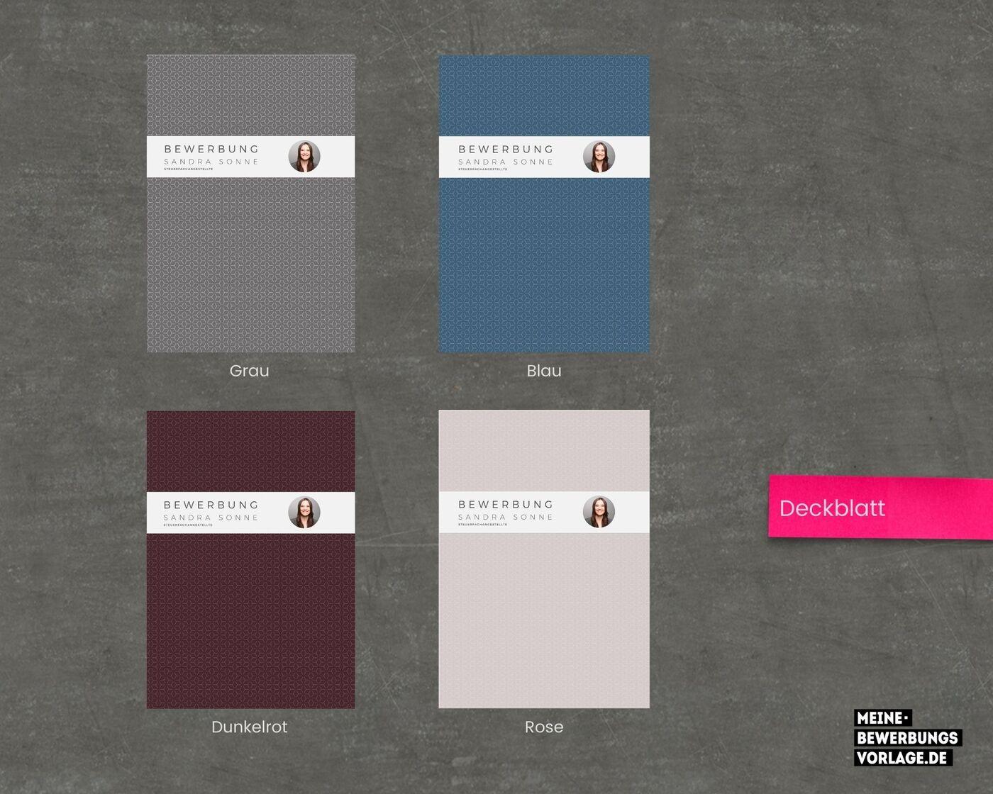 Deckblatt Farbübersicht