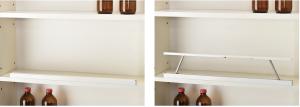 ①棚板上部への設置例(SD収納時/起動時)