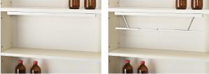 ④棚板下部への設置例(SD収納時/起動時)