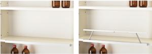 ②棚板前部への設置例(SD収納時/起動時)
