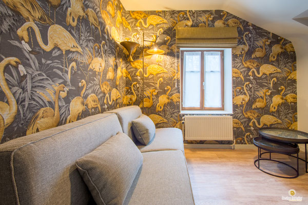 Rénovation suite parentale d'une chambre d'hôtel à 5560 Celles Houyet Décoratrice d'intérieur UFDI Catherine Colot Design Interior 5580 Rochefort