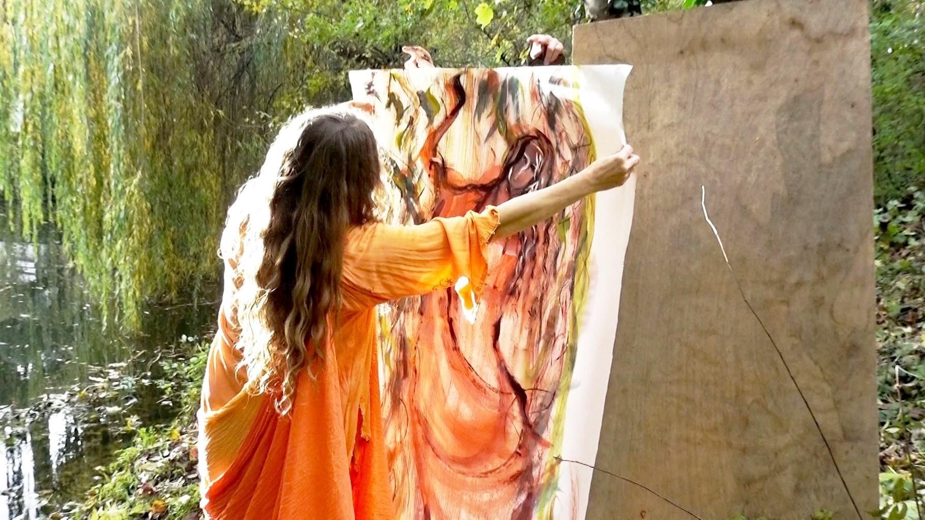 drachin von terra, peinture de micheline reboulleau_photo zed terra 11/11/2014