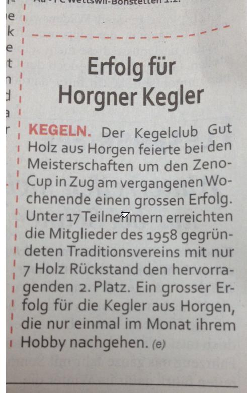 Zürichseezeitung!