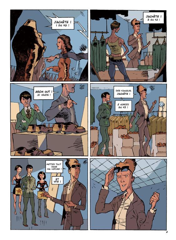 LE DROMOPHILE, PAGE 2, AVEC PATES