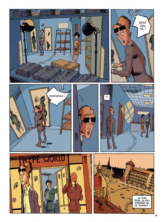 LE DROMOPHILE, PAGE 3, AVEC PATES