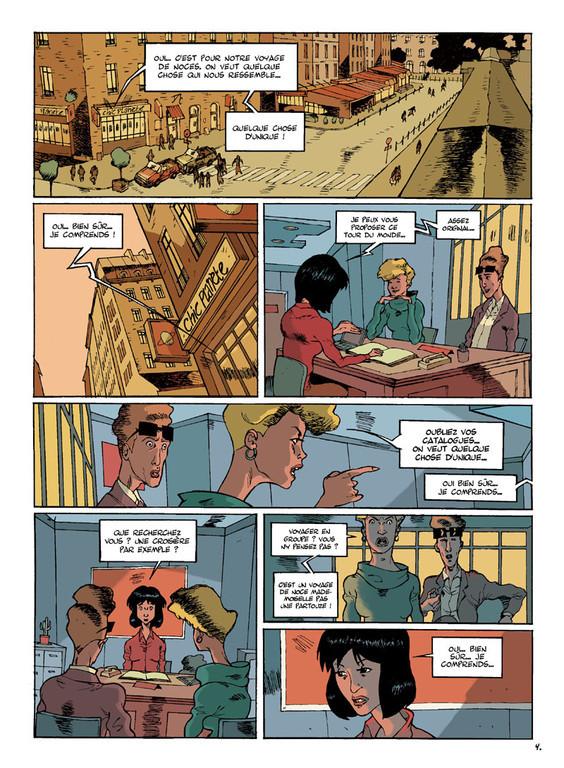 LE DROMOPHILE, PAGE 4, AVEC PATES