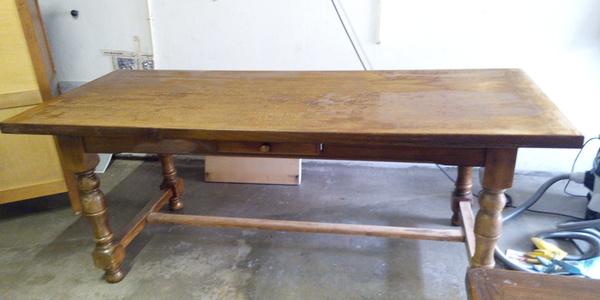 Rénovation table en bois Crolles