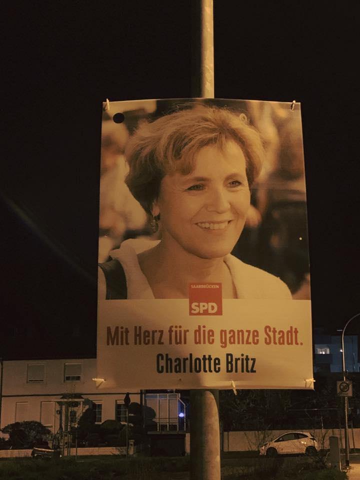 Plakate haben wir natürlich auch aufgehängt.