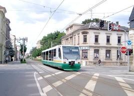 Tram-train de Zwickau (Saxe) à Kraslice en République tchèque (véhicule diesel)