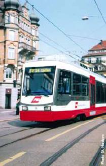 Un exemple pour l'Av. de la Gare à Monthey : le Trogenerbahn de St-Gall