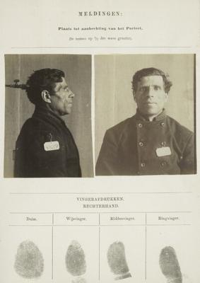 Signalementkaart Veenhuizen opname 09-05-1896