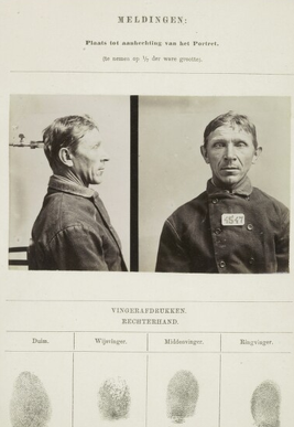 Signalementkaart Veenhuizen opname 31-08-1896