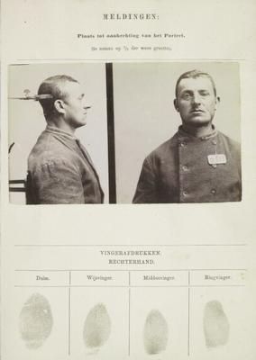 Signalementkaart Veenhuizen opname 11-09-1896