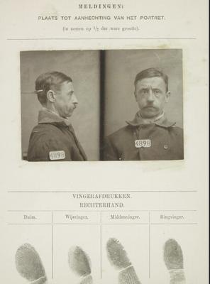 Signalementkaart Veenhuizen opname: 19-12-1898