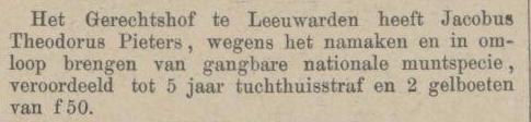 Provinciale Noordbrabantsche en 's Hertogenbossche courant 15-06-1880