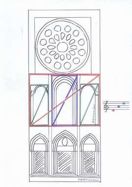 Rectángulos aureos, intervalos de consonancia y tono en la fachada occidental de Chartres