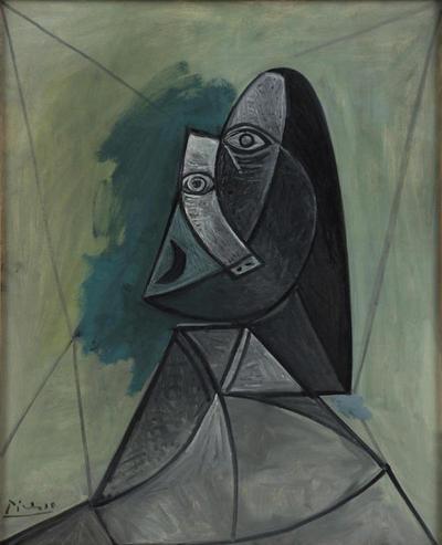 Busto de mujer 1943. Óleo sobre lienzo.104x85cm. Colección van Abbemuseum.