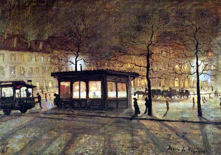 Darío de Regoyos,Efectos de luz,Estación del Norte en Bruselas.1881.Colección particular.