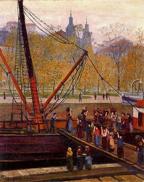 Cargadoras,1908.Óleo sobre lienzo.61x50cm.Colección particular.