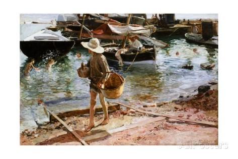 Sorolla.Puerto de Valencia.1897.Óleo sobre lienzo.59x89cm.Cincinati Art Museum,legado de Eleanor R.Meacham.