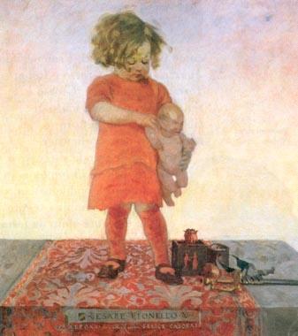 Felice Casorati.Cesare Lionello,1911.Cortesía de Gredo Art, Turín. El arte genuino presenta al niño a través del alma, focalizada en la etapa de la infancia,trasmite alegría, dulzura.
