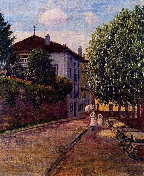 Calle de Durango.Arrabal de Pinondo,1907.Óleo sobre lienzo.61x50cm.BBK