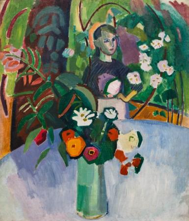 """Raoul Dufy. Jeanne dans les fleures.1907.Musé d´Art Moderne André Malroux. El Havre. Colorista por temperamento provoca en el público explosión de colores y pensamientos. """"El color es para mis ojos un generador de luz""""."""