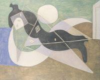 Mujer tendida al sol,Boisgeloup,1932.Óleo y lápiz sobre tela.130x162cm.Colección particular.