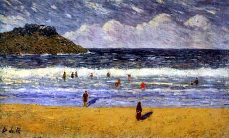 La playa de Ondarreta,1896.Óleo sobre lienzo.40x66cm.Colección particular.