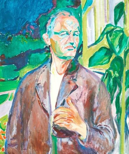 Autorretrato en la casa 1926.Munch Museet, Oslo.