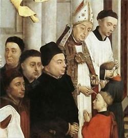 Detalle Confirmación. Roger van der Weyden