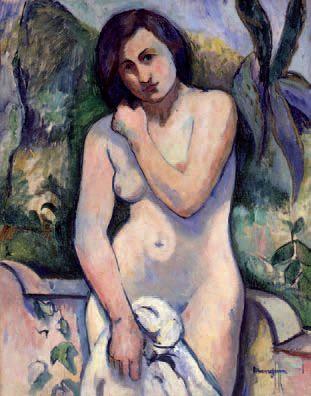 H.Manguin.Desnudo con aloe,Jeanne 1907.Colección particular.Una modelo pintada por todos los fauvistas, en Saint-Tropez, autentica tierra prometida para el autor.