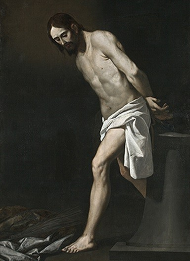 Cristo atado a la columna,1655-1660.Museo de Breslavia.A tamaño natural, parece un Tiziano por la firmeza de su pincelada y colorido.Cristo destaca sobre fondo oscuro.