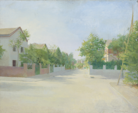 María Moreno, Calle Levante 1977.Óleo sobre lienzo, 61x75cm.Colección del artista.