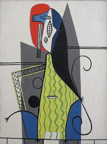 Femme dans un fauteuil 1927. Museo Nacional Picasso Paris.