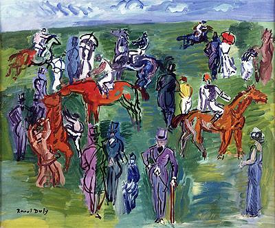 Raoul Dufy.En las carreras. 1930-35. Óleo sobre lienzo.40x55cm.Colección Carmen Thyssen.