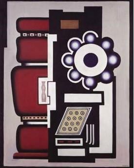 """Fernand Léger.Naturaleza muerta.El movimiento del cojinete,1926.""""Si las expresiones pictóricas han cambiado es porque la vida moderna lo ha requerido,la velocidad de las máquinas alteran para siempre la apariencia de las cosasy la impresiones sensoriales."""