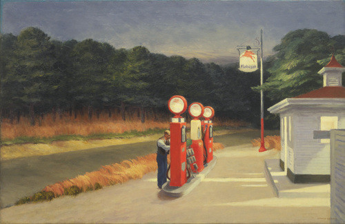 Hopper, Gasolina.1940.Óleo sobre lienzo.66x102cm.The Museum of Modern Art, Nueva York. Mrs Simon Guggenheim.