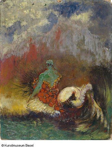 Odilon Redom.La sirena. El arte es el Alcance Supremo, alto, saludable y sagrado; genera la eclosión; en el diletante produce el único y delicioso deleite, pero en el artista, con el tormento, produce el nuevo grano para la nueva semilla.