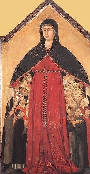 Madonna de las Gracias. Louis de Silvestre, 1308, Pinacoteca de Siena