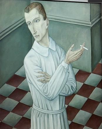 Ubaldo Oppi.Il Chirurgo,cuyos inicios se caracterizan por figuras enjutas,angulsas, donde se advierte el eco de su formación vienesa y dibujos cargados de dolor recuerdan su cautiverio en Mauthausen.