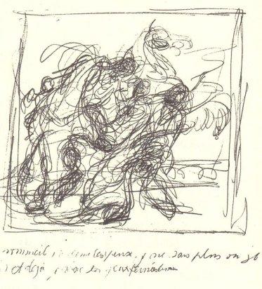 """Giacometti, copia simplificada del Laoconte y el deseo inmediato desde su infancia de copiar a los grandes maestros clásicos, eran recuerdos afectivos..porque """" copiar es la mejor manera de darme cuenta de lo que veo."""""""