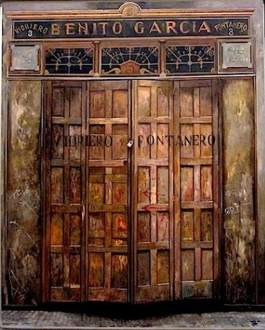 Amalia Avia.Benito Garcia Fontanero 1988.Técnica mixta sobre tabla.160x130cm.Colección Familia Muñoz Avia.