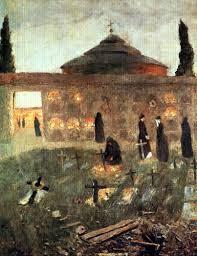 Noche de difuntos,1886.86x63cm..Colección particular