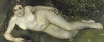 Ninfa junto a un arroyo,1869-1870.Óleo sobre lienzo,66x122cm.Londres National Gallery.
